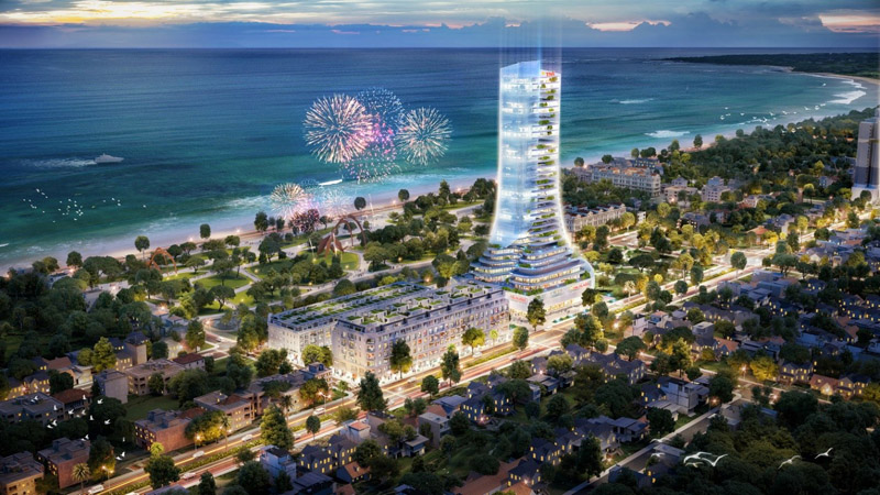 TNR Grand Palace Phú Yên với khối khách sạn thương mại dịch vụ 40 tầng chỉ cách bãi biển chưa đầy 300m kỳ vọng sẽ là biểu tượng cho sự phát triển của thành phố trẻ Tuy Hòa