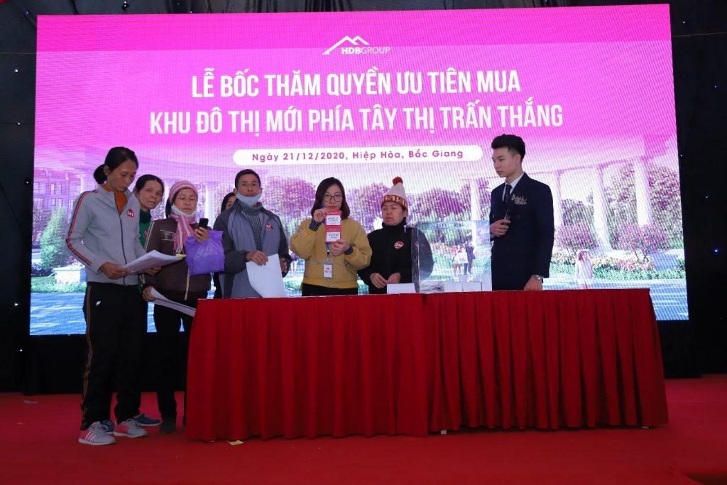 Lần đầu tiên tại Việt Nam tổ chức chương trình ưu tiên mua dự án cho khách hàng  là người dân xung quanh dự án với mức ưu đãi rất hấp dẫn lên hơn 10% tại Thị Trấn Thắng, Hiệp Hòa, Bắc Giang