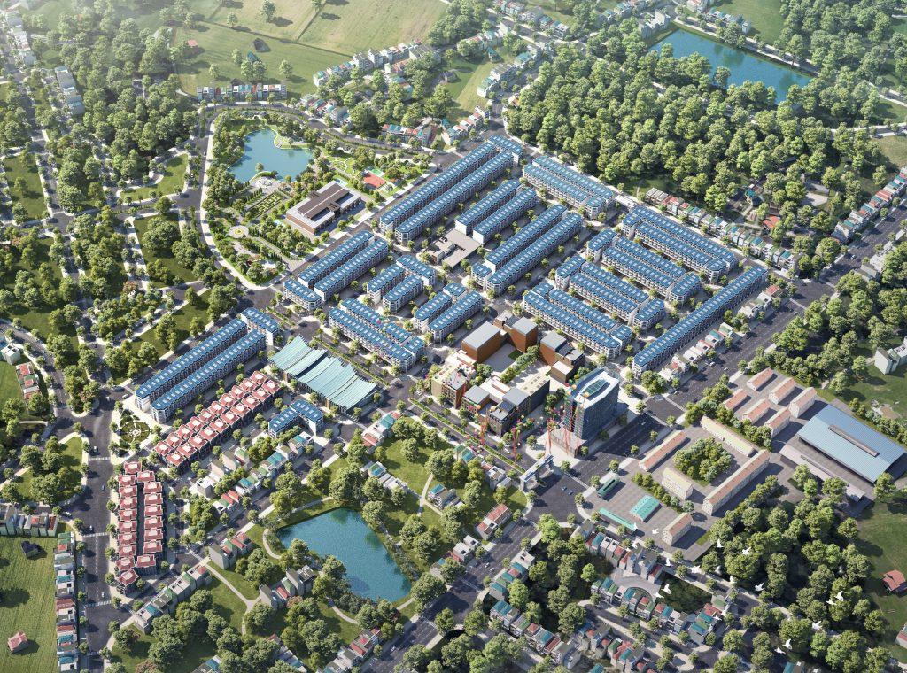 Phối cảnh dự án TNR Stars Thắng City – dự án trọng điểm của tỉnh Bắc Giang để thành lập thị xã Hiệp Hòa vào năm 2027