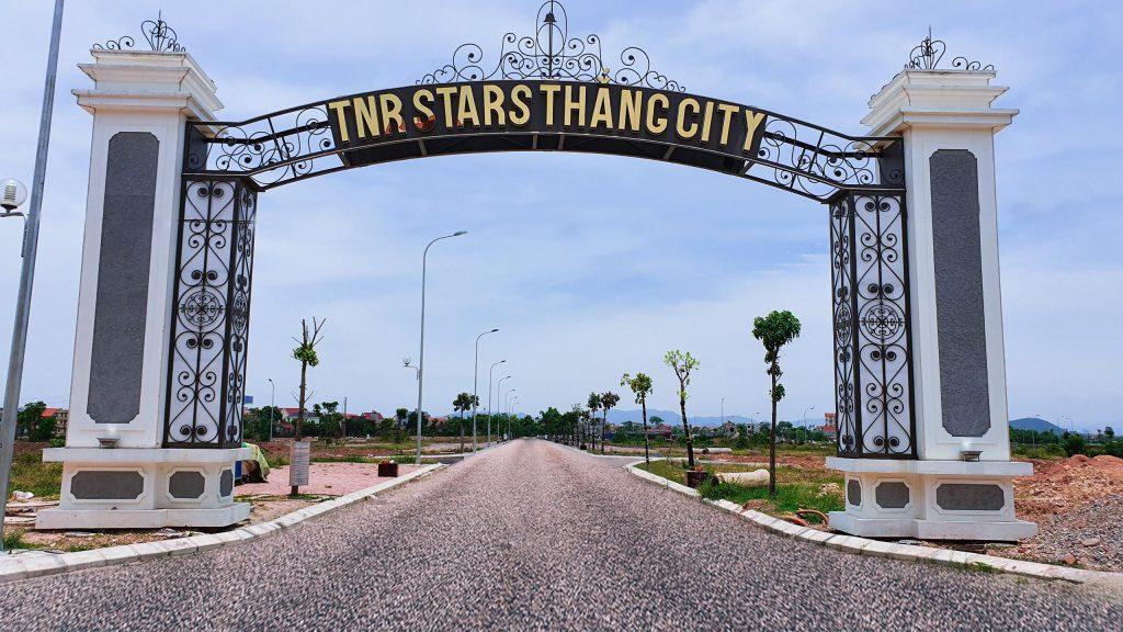 Cổng phụ dự án TNR Stars Thắng City đã hoàn thiện
