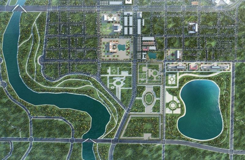 Quy hoạch thành phố Thái Hoà tầm nhìn năm 2025 với trung tâm hành chính mới và tiểu khu Thiên Long.