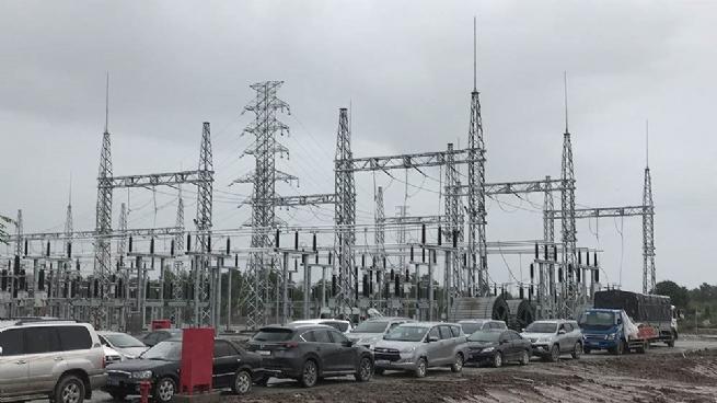 Trạm biến áp 110kV – một hạng mục của Nhà máy điện gió Đông Hải 1, hàng loạt công trình phục vụ công nghiệp điện khí và điện gió sẽ làm thay đổi hạ tầng công nghiệp của Đông Hải, Bạc Liêu